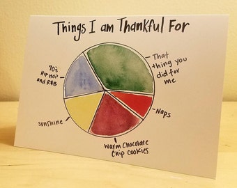 Pie Chart Thank you Card