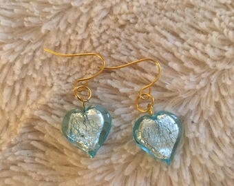 Pretty Pale Blue Heart Earrings