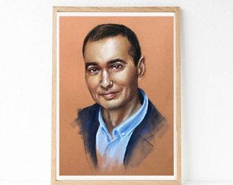 Your Custom Pastel Portrait. Just send me a photo!