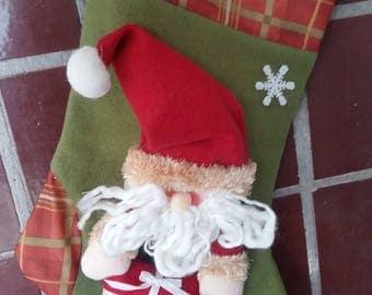 1970'so vintage Santa Christmas Stocking soviet