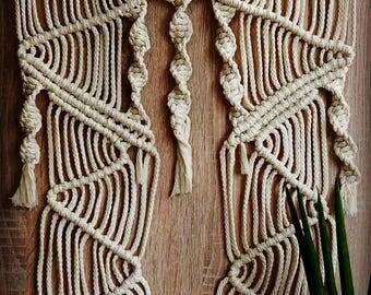 "Macrium Tapestry ""Window"" | Wallhanging | Macrame | Homedecor | Interior | Manual Work | Handicraft"