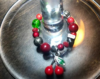 Cherries Wine Charm