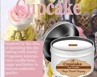 Cupcake Soy Candle Tin (8 oz.)