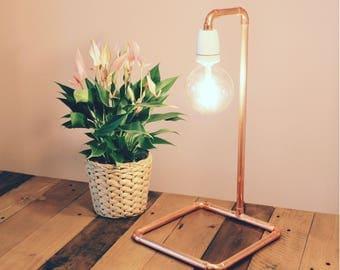 kupferrohr lampe etsy. Black Bedroom Furniture Sets. Home Design Ideas