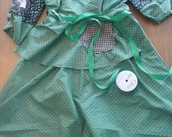Green Dress in cotton