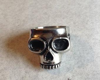 Skull mens ring / stainless / bikers ring