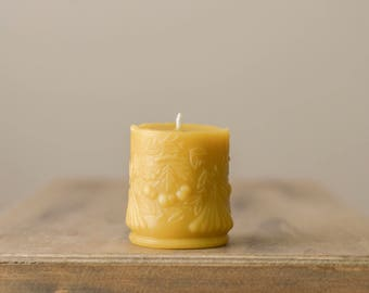 Beeswax Candle, Vintage Inspired Candle, Homemade Candles, Beeswax Candles, 100% Pure Beeswax Candle