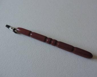 Bracelet Mate - wooden, hand turned in Purple Heart wood
