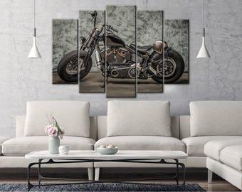 Bobber canvas, Large Bike Canvas, Bobber wall art, Motorcycle wall art, Motorcycle decor, Bobber print, Motorbike wall decor, Bobber poster