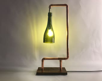 "Table Lamp-""Lampara-g"" Bottle lamp"
