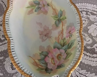 Vintage hand painted and signed bowl