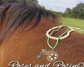 Big Green Tractor necklace