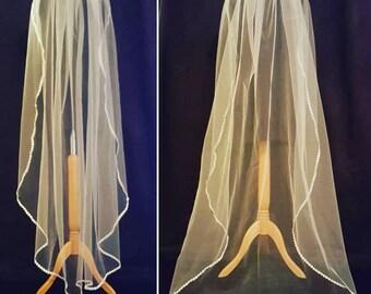 Tulle bridal veil