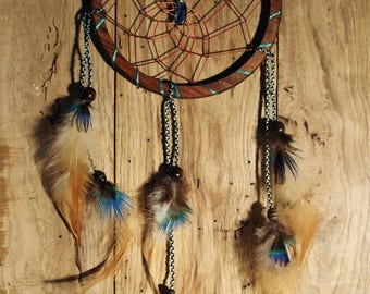 DreamCatcher with mother of Pearl and Walnut wood