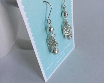 Margo Earrings handmade sterling silver
