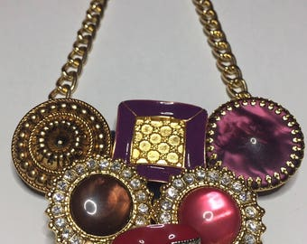 Necklace with jeweled Buttons