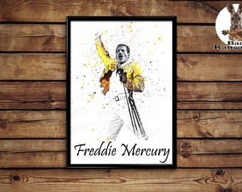 Freddie Mercury print wall art home decor poster