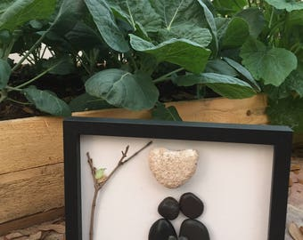 Moonlight Love pebble art