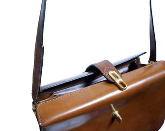 Fiber Street VINTAGE! classic 90s beautiful details vintage leather bag