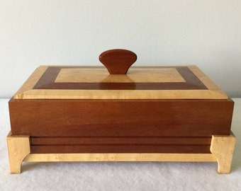 Mahogany and Birdseye Maple Box