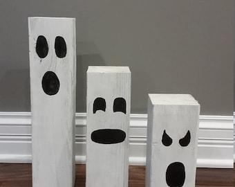 Wooden Ghost Set, Halloween, Ghost