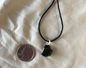 Beautiful Black Tourmaline Pendant