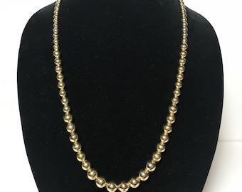 Napier Gold Tone Beaded Necklace