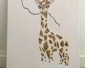 Baby Giraffe Canvas