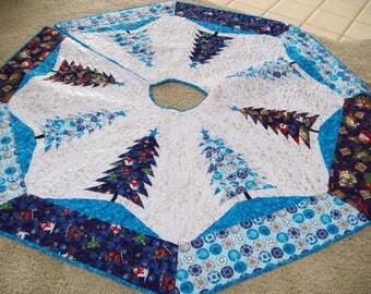 "64"" Christmas & Hanukkah Tree Skirt - #20L, Quilted, Reversible"