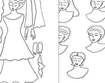 Printable Angel Paper Doll Coloring Pages
