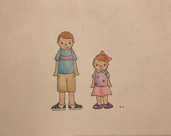 Custom Watercolor Family Portrait