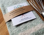 Sage Green Kitchen Towel Handwoven Sustainable Organic Cotton Linen