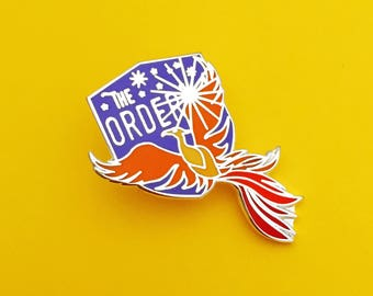The Order of the Phoenix Enamel Pin - Phoenix Badge - Harry Potter Enamel Pin