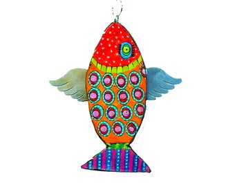 Fish Wall hanging, Fish decoration, Fish decor, Flying fish , Fish wall decor, Fish wall decoration, Fish art, Fish wall art, New home gifts