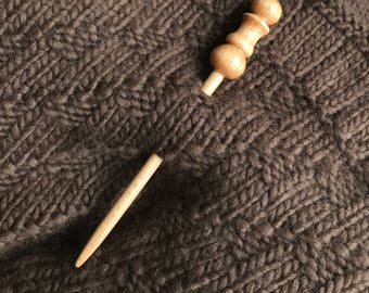 Handcrafted Wood Shawl Pin, Scarf Pin, Brooch, Clasp, Closure, Elegant, Use with Knit and Crochet Scarves, Wraps, Made in America