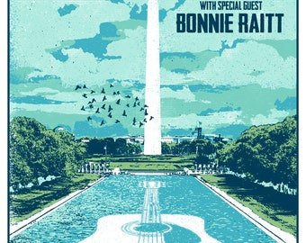 James Taylor Bonnie Raitt 2017 Washington DC Nationals Park Stadium Tour Gigposter Poster by GIGART