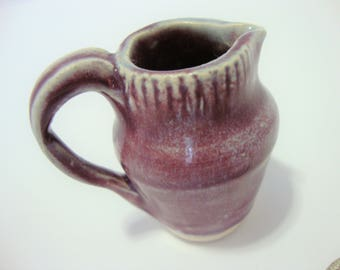 Mini Pitcher - Hand Thrown and Altered - Purple / Blue Pitcher - Tiny Pitcher