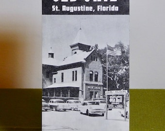 See the Old Jail 1950s Travel Brochure St. Augustine Florida