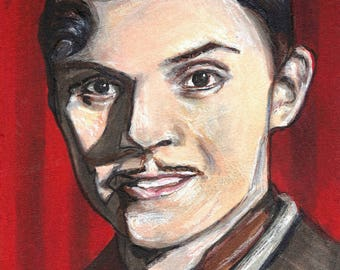 Evan Peters as James March American Horror Story Hotel Copic Marker Drawing Art Print  11.7 x 16.5 inches