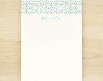 QUATREFOIL Personalized Notepad - Custom Letterhead Teacher