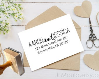 JLMould Personalized Return Address Stamp, Self Inking Address Stamp, DIYer Gift, Wedding Gift. Housewarming Gift, Custom Address Stamp 1067
