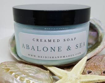 Abalone and Sea Creamed Soap - Abalone Sea Body Whip Soap - Ocean Whipped Soap - Abalone Sea Bath Whip - Floral Creamed Soap