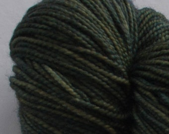 Ernestine Sock Weight- Olive -Superwash Merino/Nylon Hand Dyed Yarn 400 yards