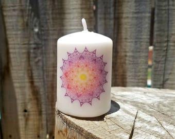 Twilight Mandala 2x3 Pillar Candle