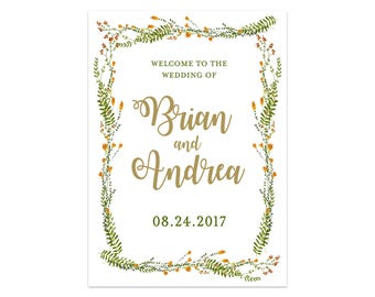 Printable Wedding Welcome Sign, Rustic Wedding Welcome Sign, Welcome Wedding Poster, Rustic Wedding Sign, Wedding Template, Bohemian Wedding