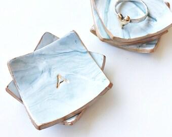 Custom engagement ring dish