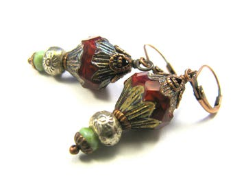 "Bohemian Inspired Czech Glass Collection - ""Enya"" Earrings"