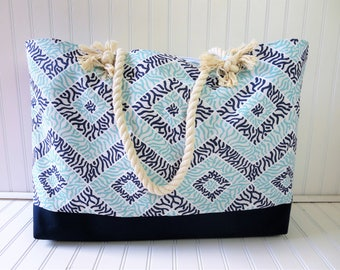 Beach Bags - Large Tote Bag - Extra Large Tote - Large Beach Bag - Beach Bag - Beach Tote - Beach Tote Bag - Beach Bag with Rope Handles