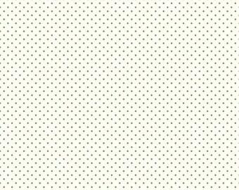 ON SALE Riley Blake Basic Clover Swiss Dots on White