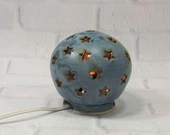 Starry Nights Nursery Light, Stars Lamp, Blue Nursery Light, Night Light Kids Nursery, Nursery Decor, Mood Lighting, Baby Shower Gift